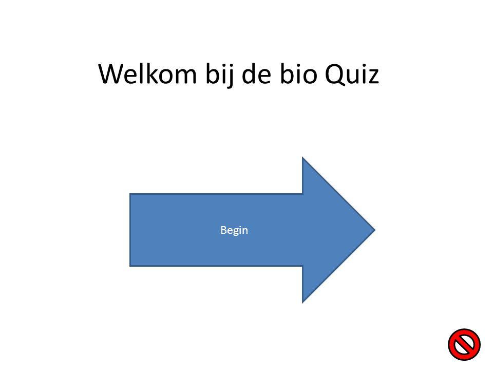 Welkom bij de bio Quiz Begin