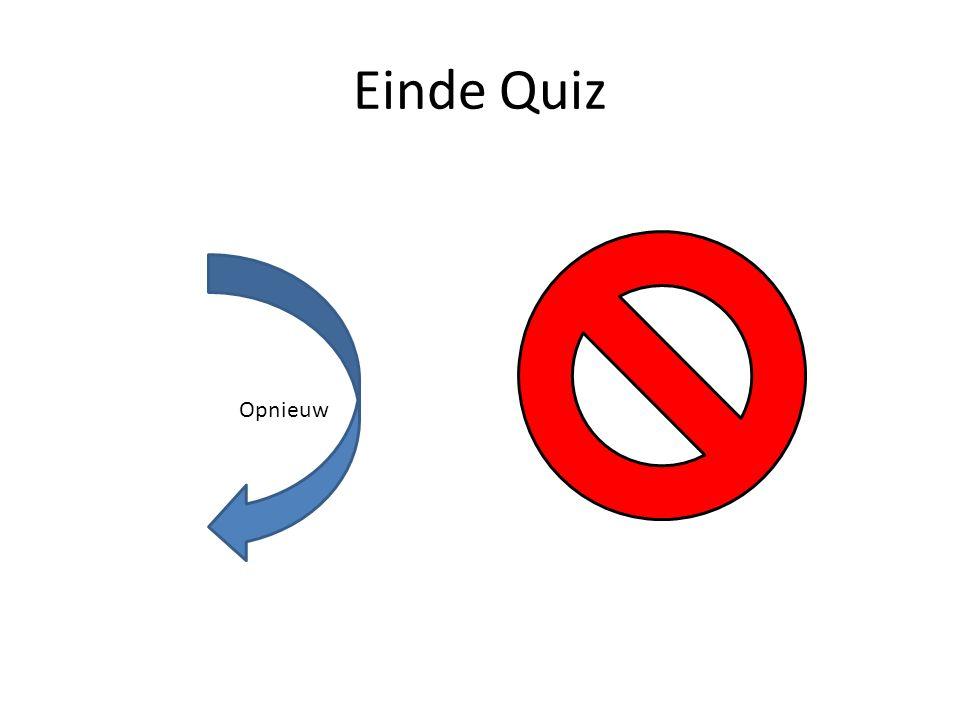 Einde Quiz Opnieuw