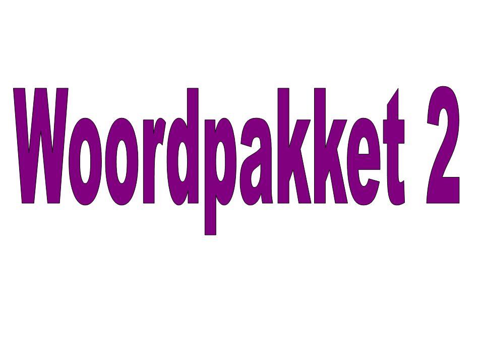 Woordpakket 2