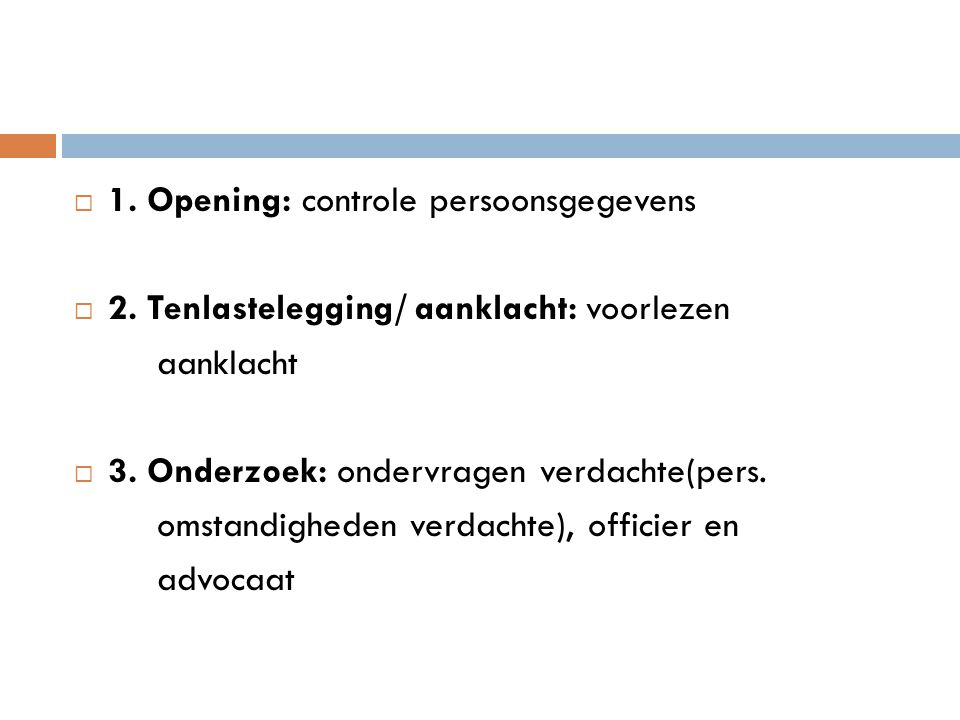 1. Opening: controle persoonsgegevens