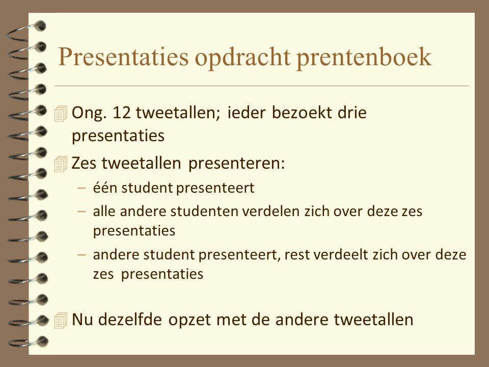 Presentaties opdracht prentenboek