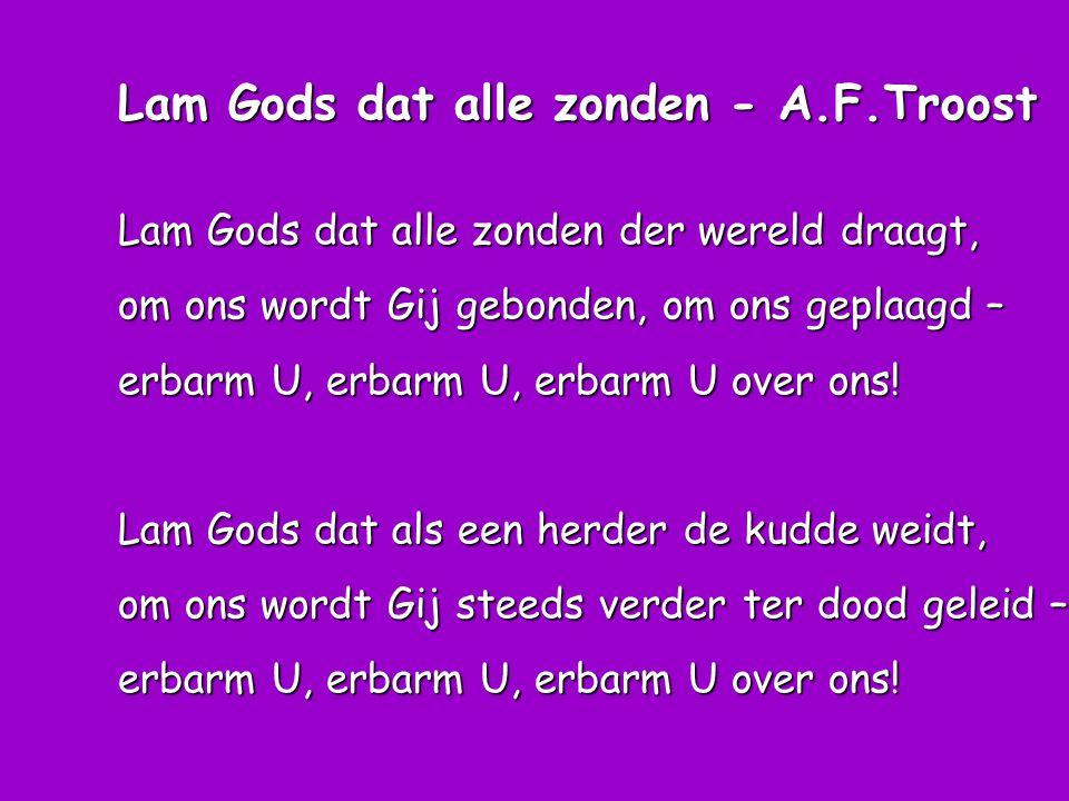 Lam Gods dat alle zonden - A.F.Troost