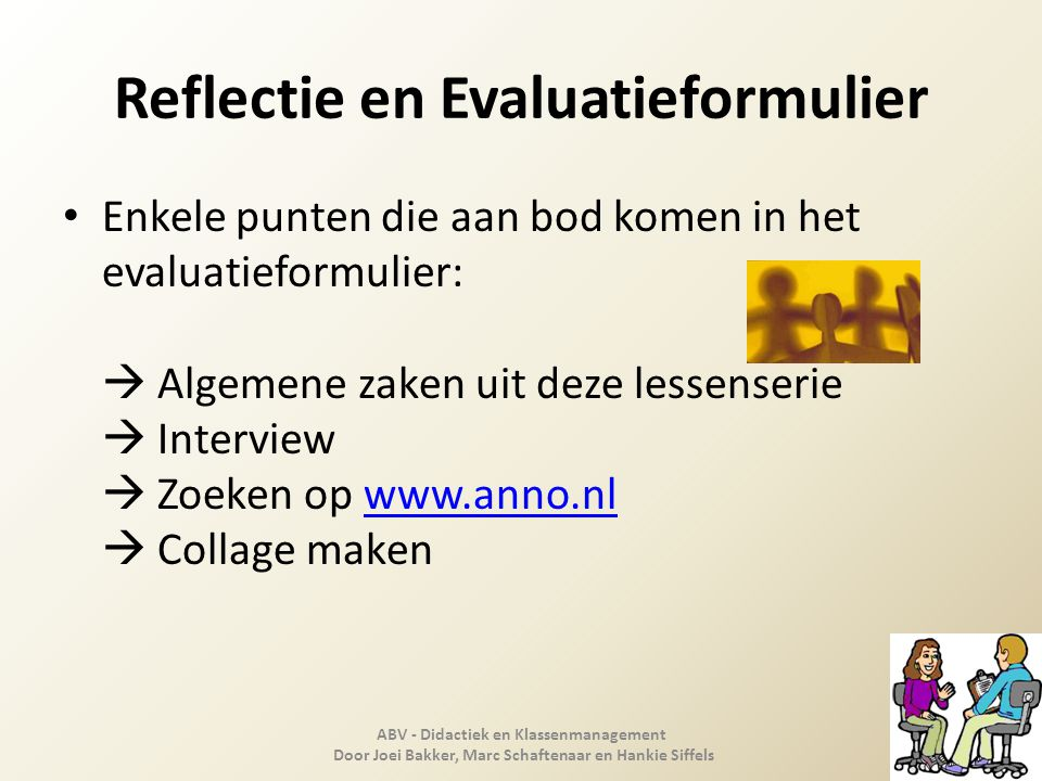 Reflectie en Evaluatieformulier