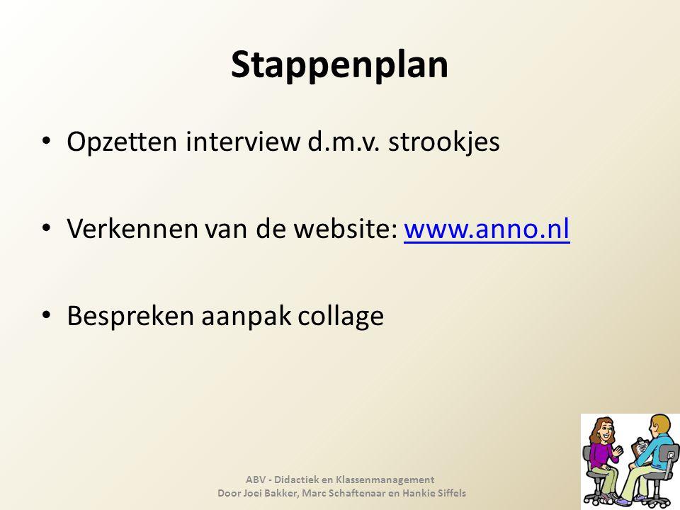 Stappenplan Opzetten interview d.m.v. strookjes