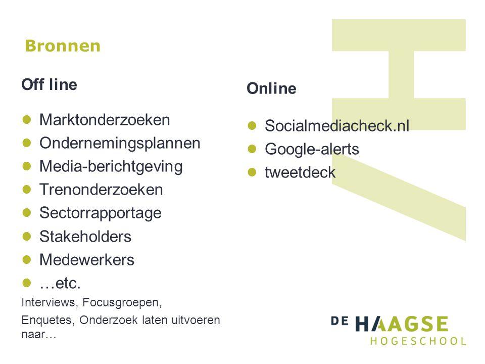 Bronnen Off line Online Marktonderzoeken Socialmediacheck.nl