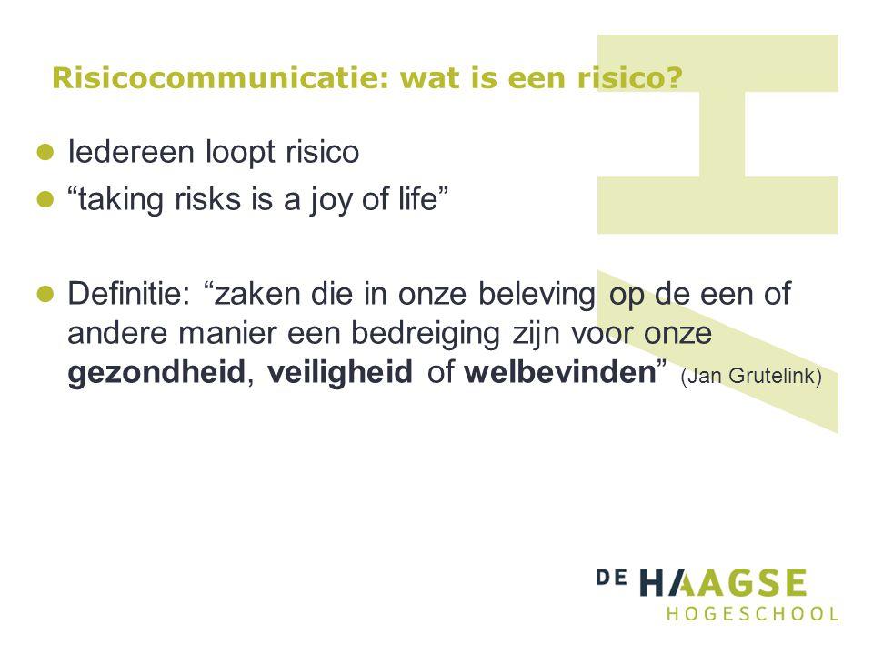 Risicocommunicatie: wat is een risico
