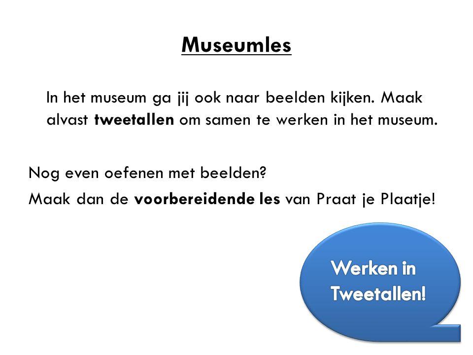 Museumles Werken in Tweetallen!