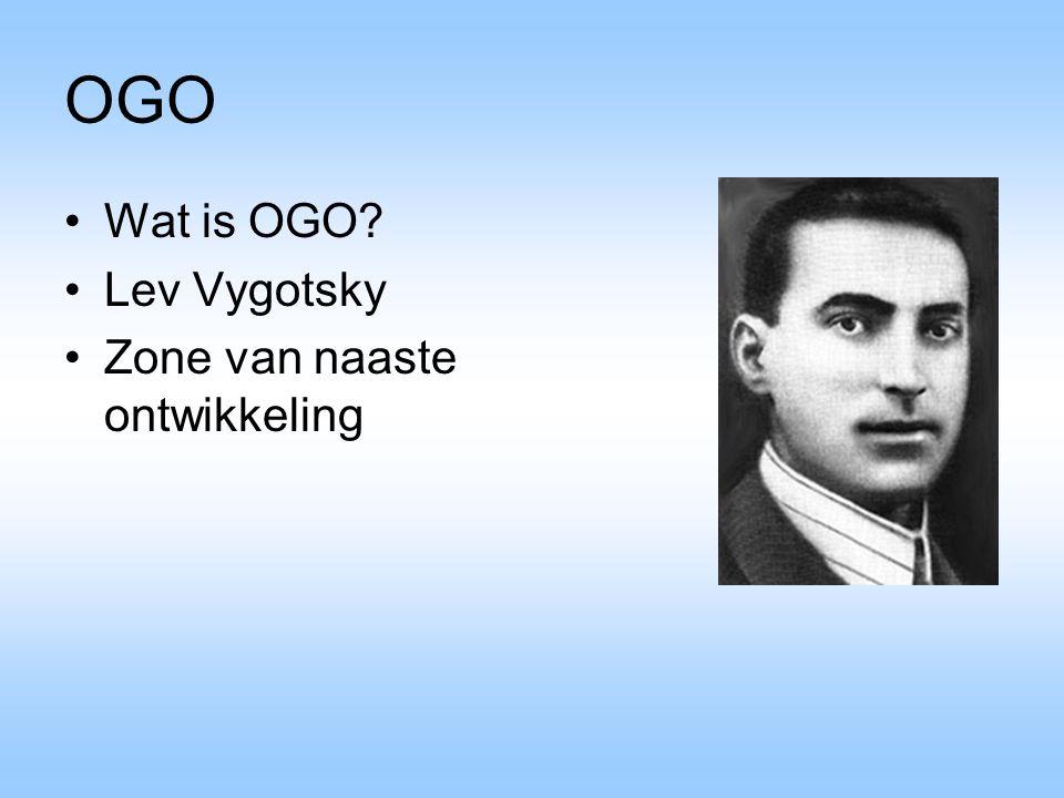 OGO Wat is OGO Lev Vygotsky Zone van naaste ontwikkeling