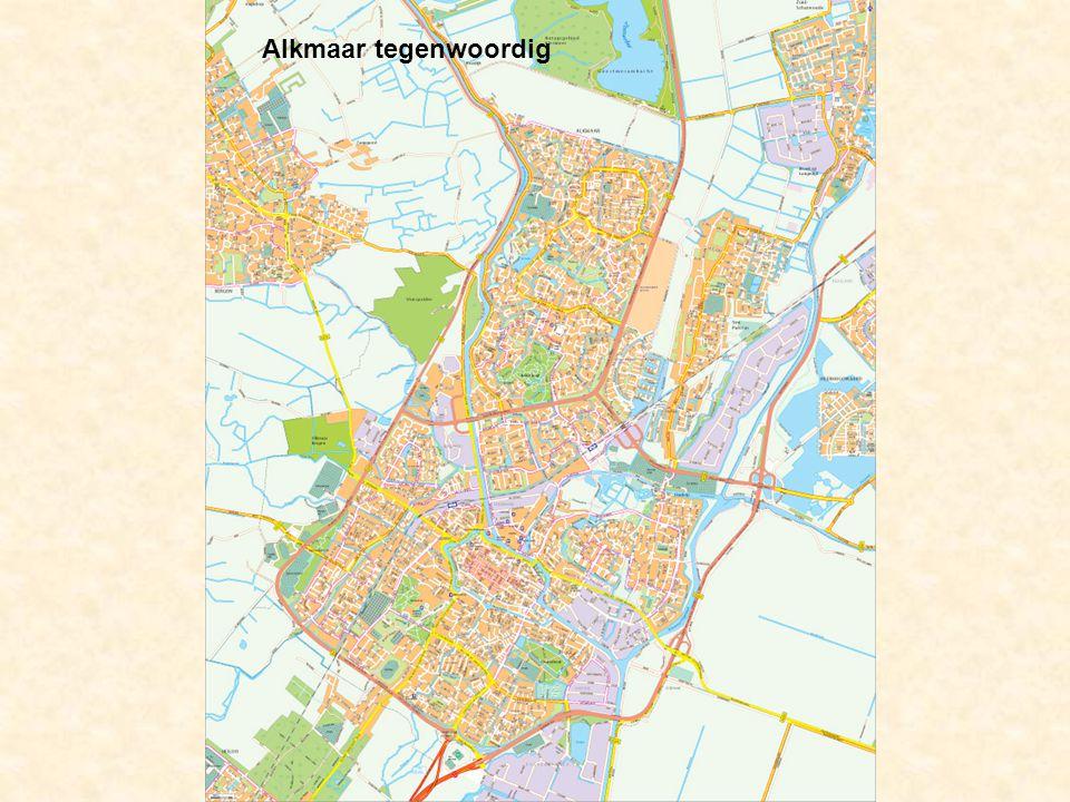 Alkmaar tegenwoordig De stad groeit tegen de dorpen Ouddorp, Koedijk en Sint-Pancras aan.