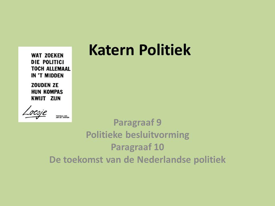 Politieke besluitvorming De toekomst van de Nederlandse politiek