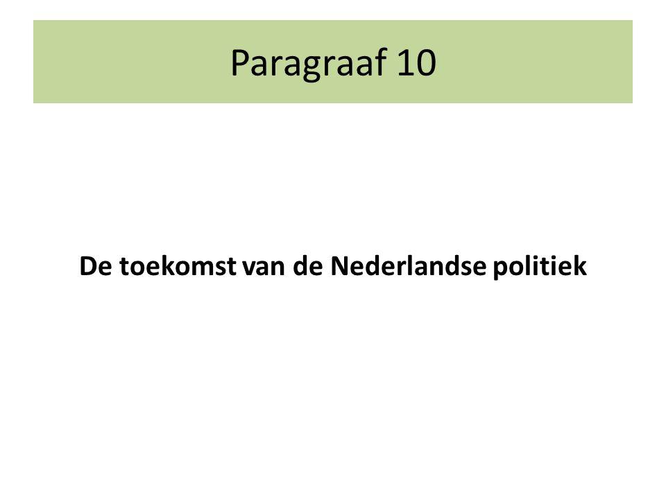 De toekomst van de Nederlandse politiek