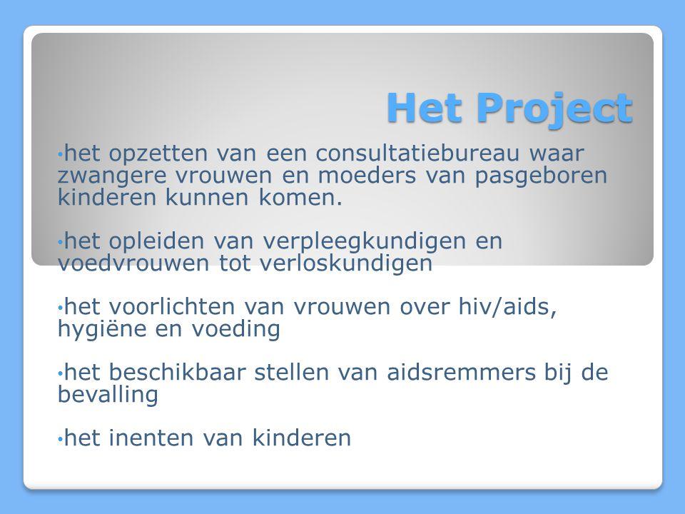 Het Project het opzetten van een consultatiebureau waar zwangere vrouwen en moeders van pasgeboren kinderen kunnen komen.