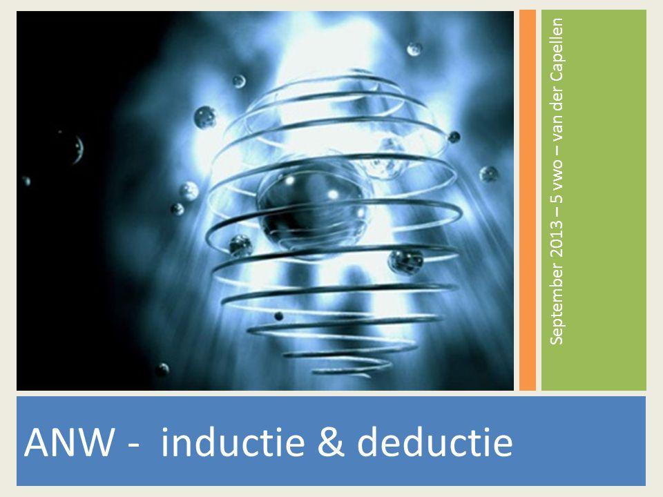 ANW - inductie & deductie