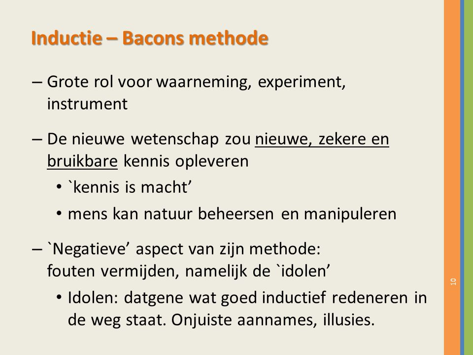 Inductie – Bacons methode