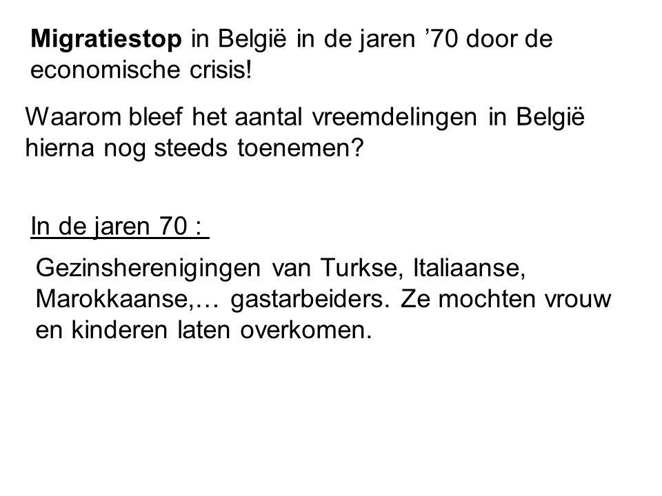Migratiestop in België in de jaren '70 door de economische crisis!