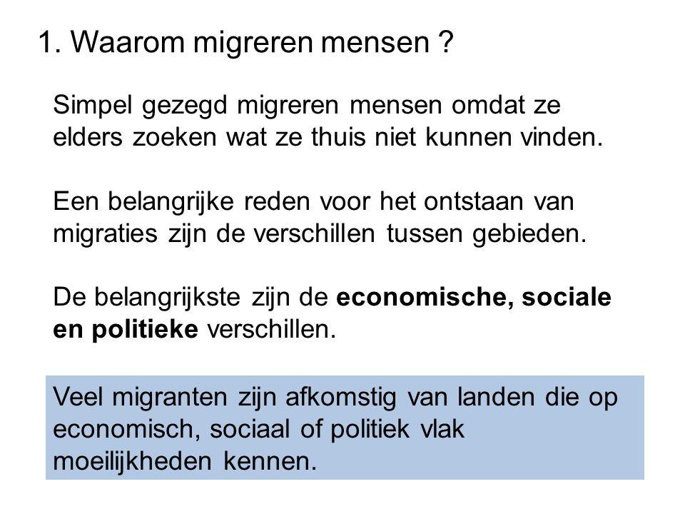 1. Waarom migreren mensen