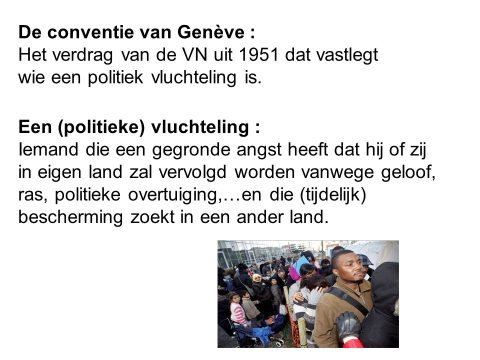 De conventie van Genève :