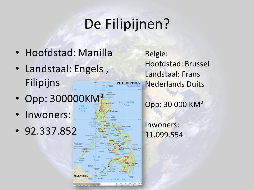 De Filipijnen Hoofdstad: Manilla Landstaal: Engels , Filipijns