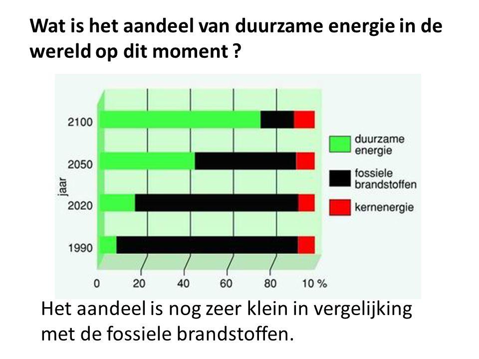 Wat is het aandeel van duurzame energie in de wereld op dit moment