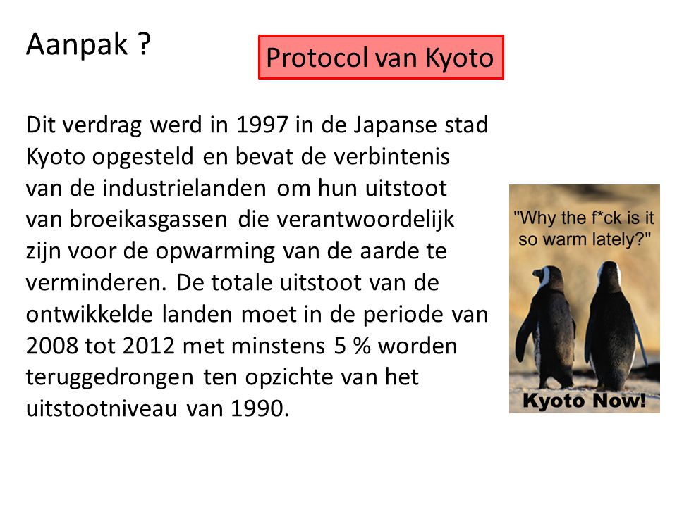 Aanpak Protocol van Kyoto