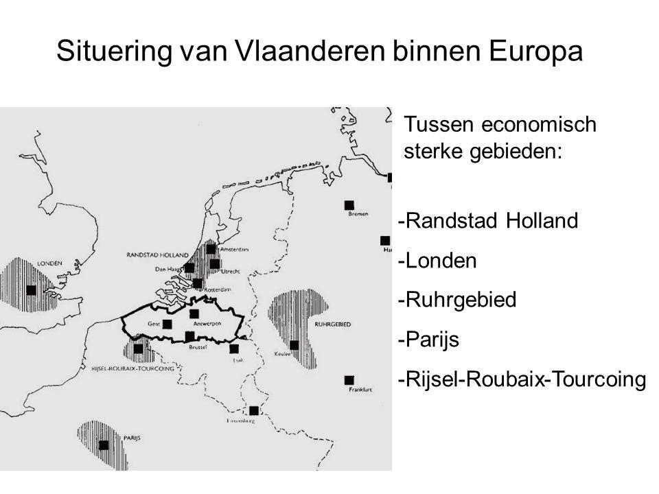 Situering van Vlaanderen binnen Europa