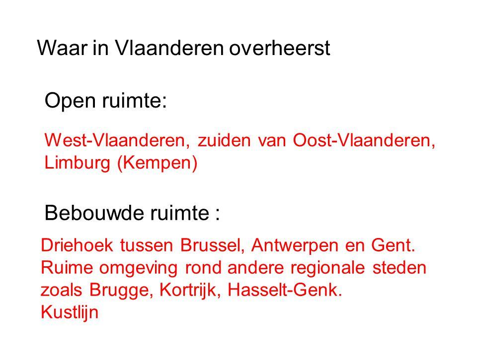 Waar in Vlaanderen overheerst