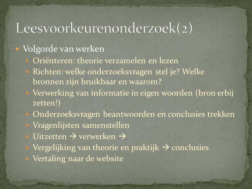 Leesvoorkeurenonderzoek(2)