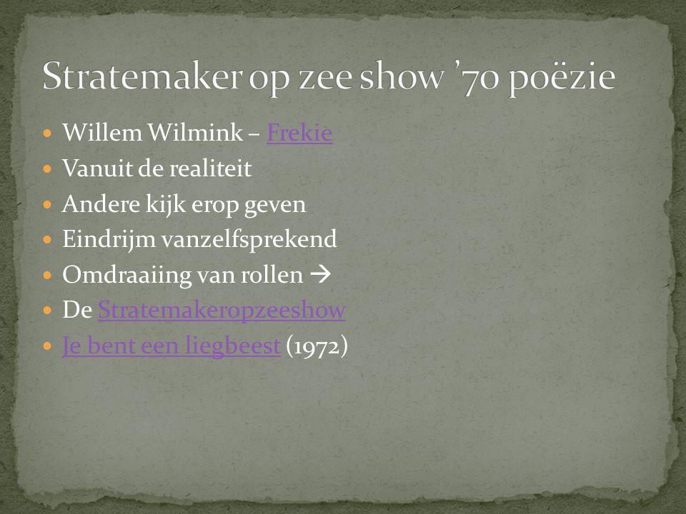 Stratemaker op zee show '70 poëzie