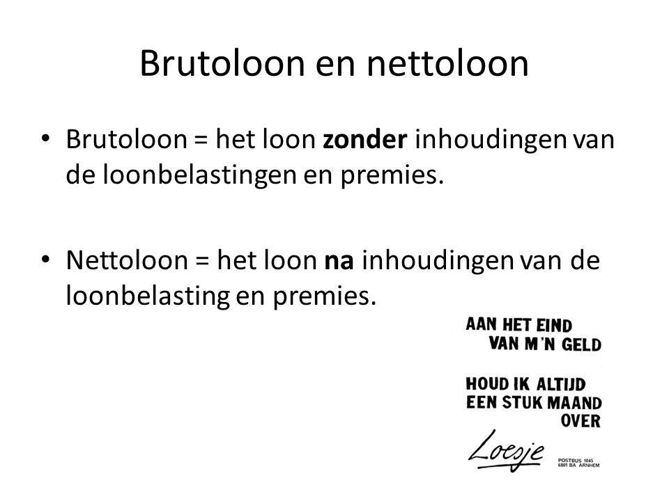 Brutoloon en nettoloon