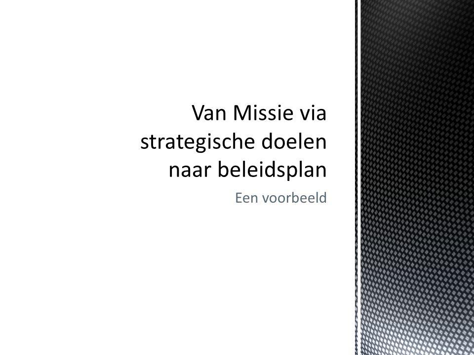 Van Missie via strategische doelen naar beleidsplan