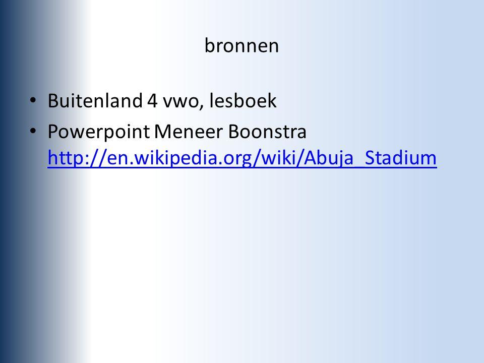 bronnen Buitenland 4 vwo, lesboek.