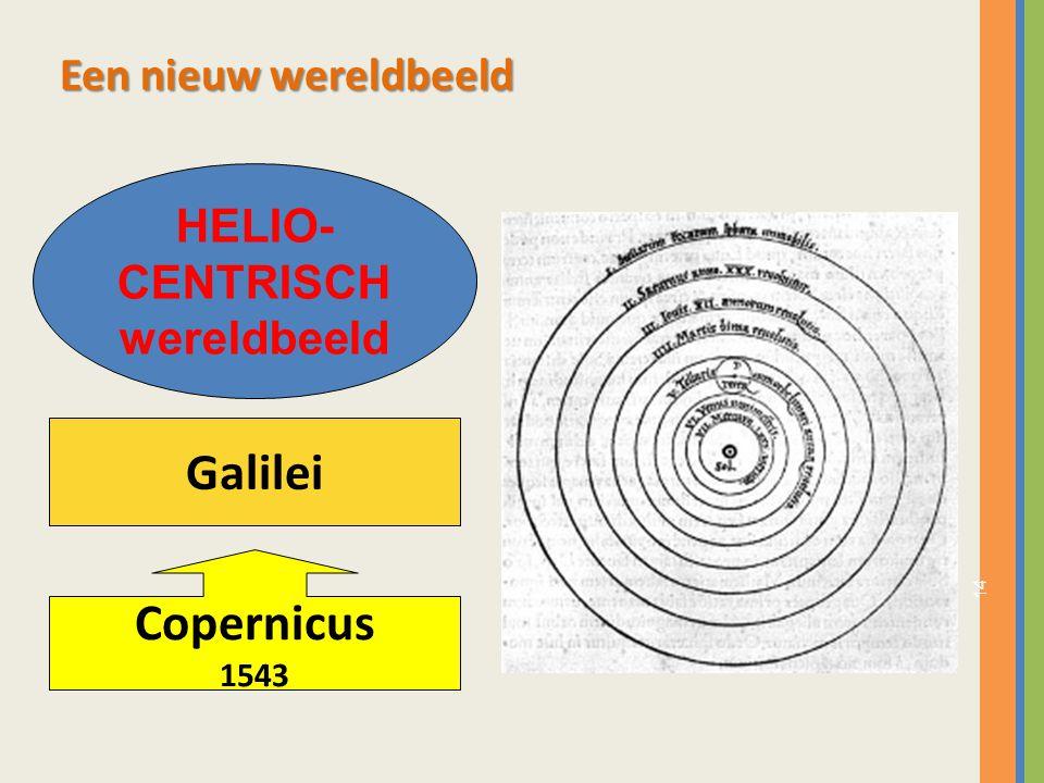 Galilei Copernicus Een nieuw wereldbeeld HELIO- CENTRISCH wereldbeeld
