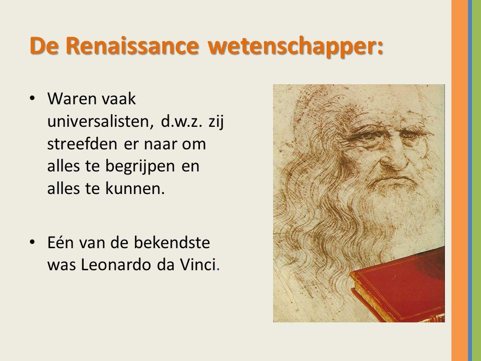 De Renaissance wetenschapper: