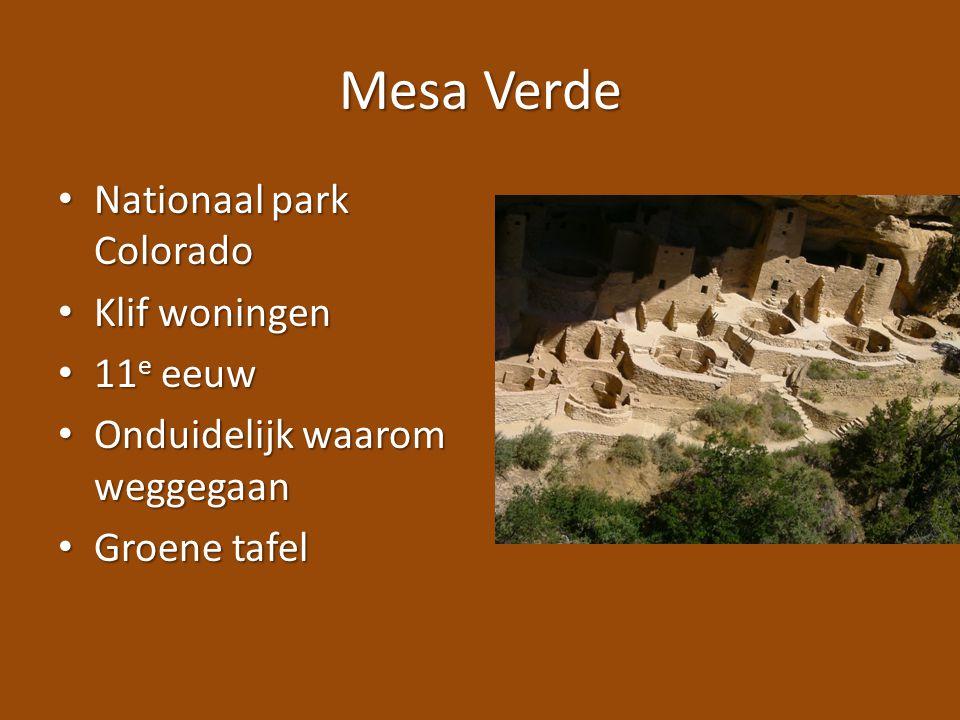 Mesa Verde Nationaal park Colorado Klif woningen 11e eeuw