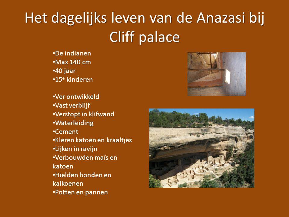 Het dagelijks leven van de Anazasi bij Cliff palace