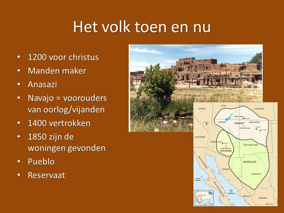 Het volk toen en nu 1200 voor christus Manden maker Anasazi