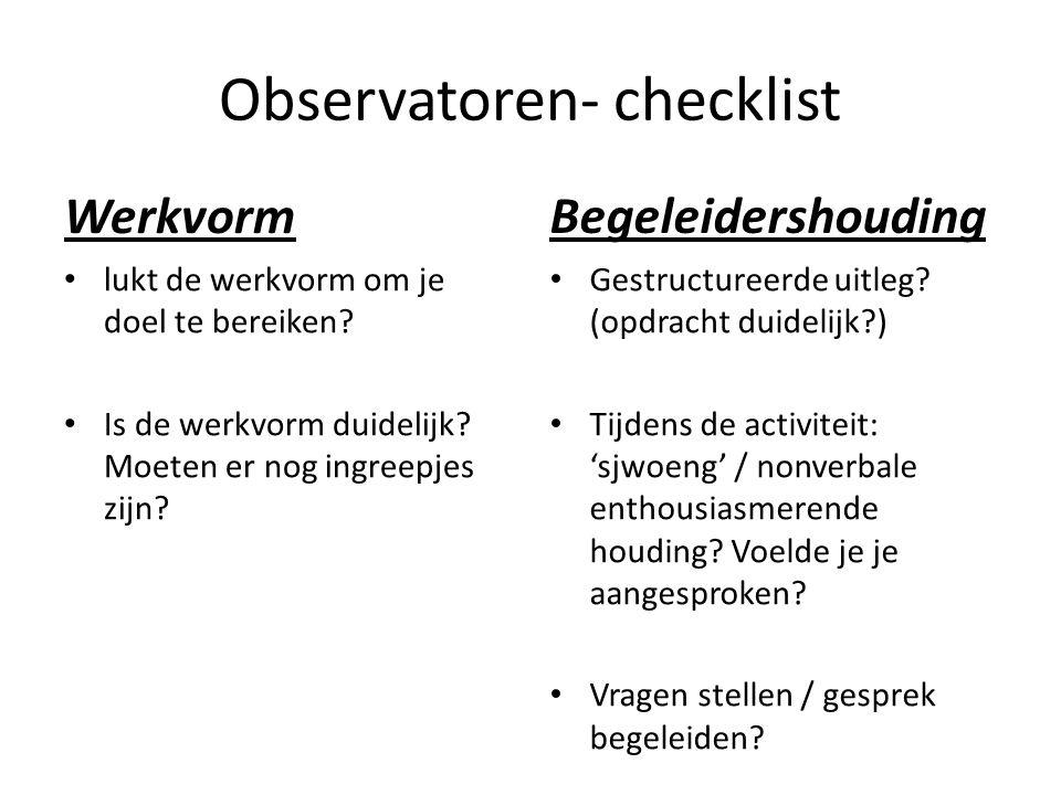 Observatoren- checklist