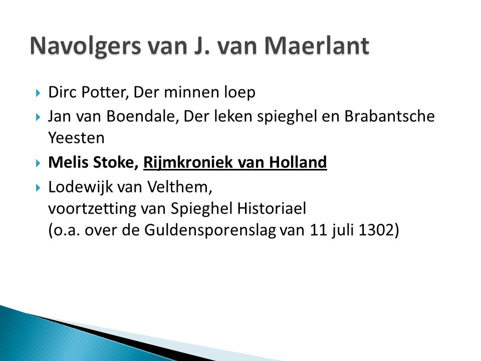 Navolgers van J. van Maerlant