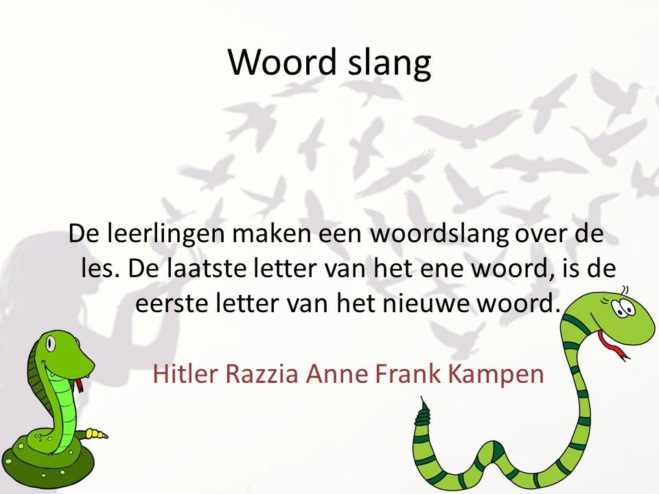 Woord slang