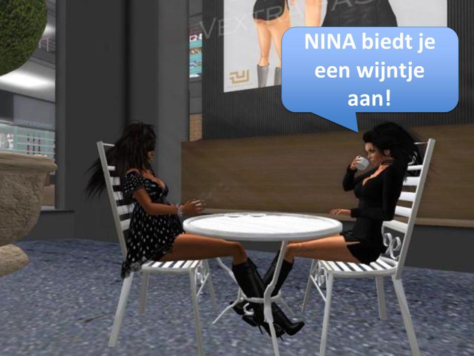 NINA biedt je een wijntje aan!