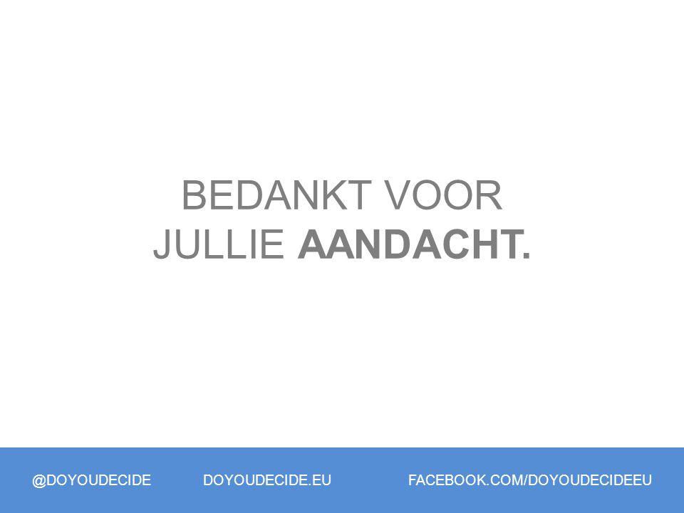 @DOYOUDECIDE DOYOUDECIDE.EU FACEBOOK.COM/DOYOUDECIDEEU