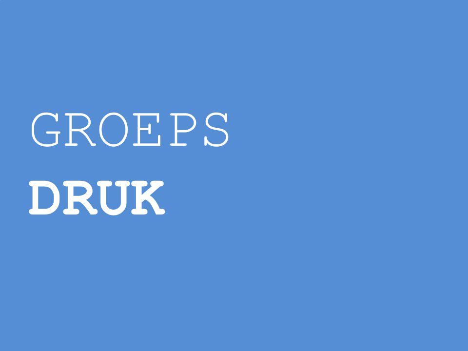 GROEPS DRUK