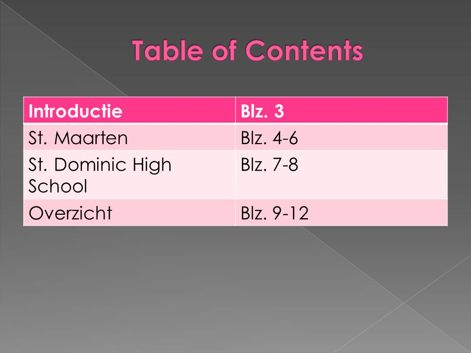 Table of Contents Introductie Blz. 3 St. Maarten Blz. 4-6