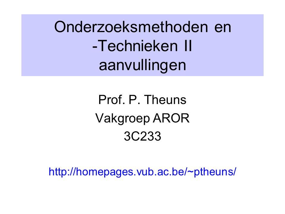 Onderzoeksmethoden en -Technieken II aanvullingen