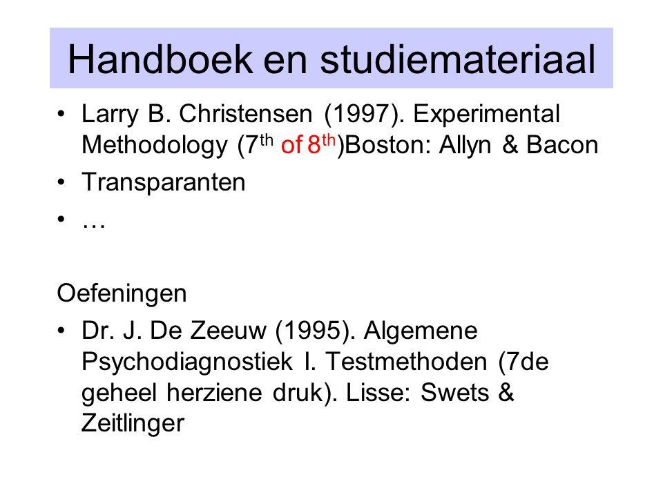 Handboek en studiemateriaal
