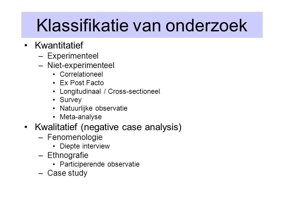 Klassifikatie van onderzoek