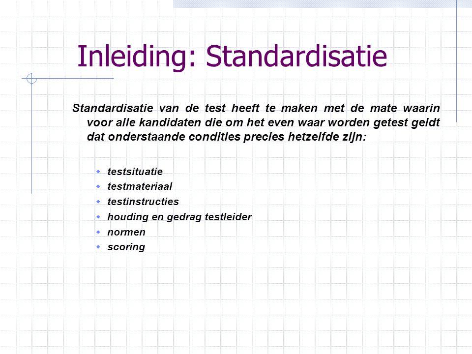 Inleiding: Standardisatie