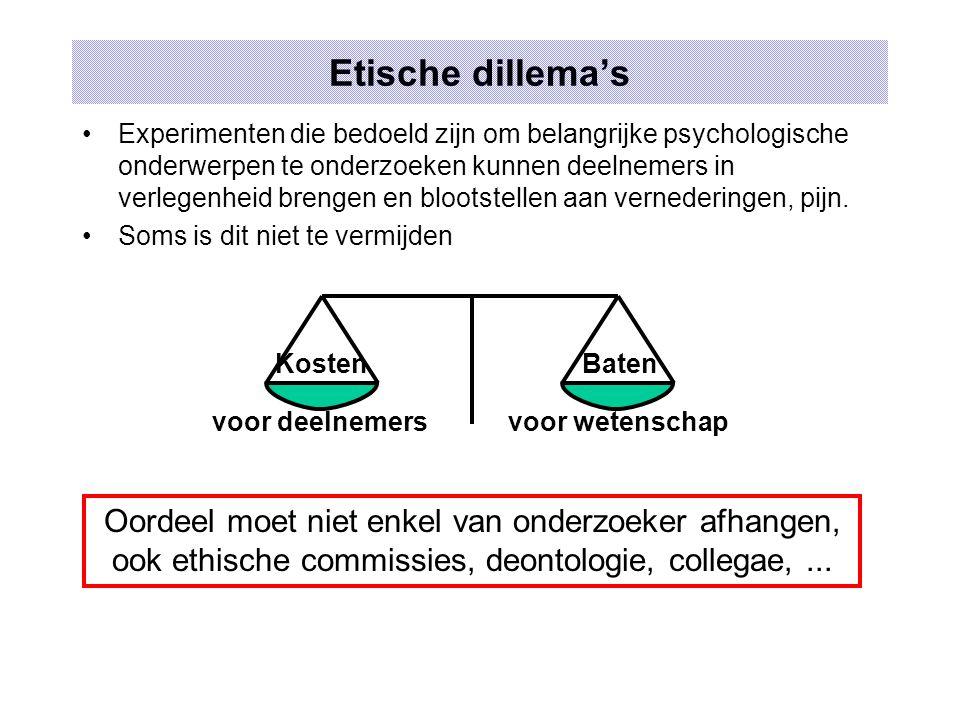 Etische dillema's
