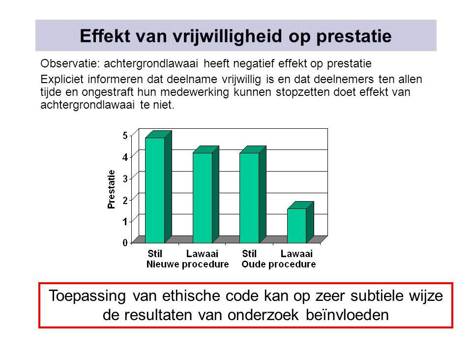 Effekt van vrijwilligheid op prestatie