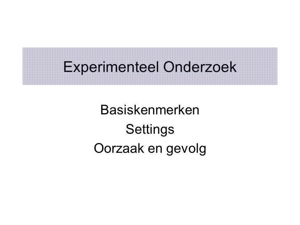 Experimenteel Onderzoek